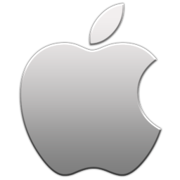 Apple logo icon   Aluminum